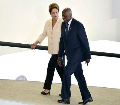 Dilma e Eduardo dos Santos, velhos amigos enquanto o poder o permitiu.