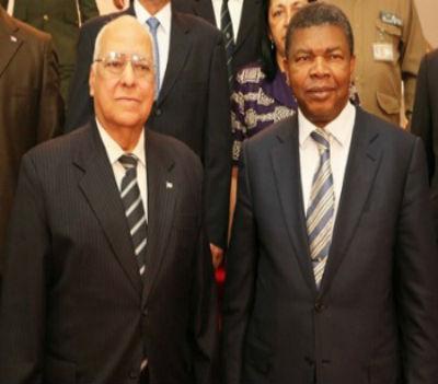 """João """"Malandro"""" Lourenço e Ricardo Cabrisas Ruiz, Vice-presidente do Conselho de Ministros da República de Cuba."""