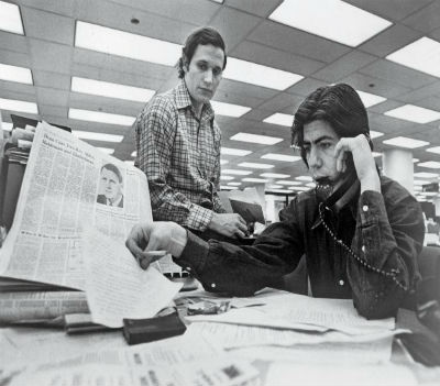 As investigações de Bob Woodward e Carl Bernstein, dois repórteres do Washington Post, estiveram na origem do caso Watergate que levou à queda do presidente dos EUA, Richard Nixon.
