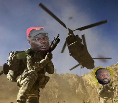 O general Kangamba, coadjuvado pelo embaixador itinerante (Luvualu de Carvalho) lidera o esquadrão militar que se prepara para atacar Portugal.